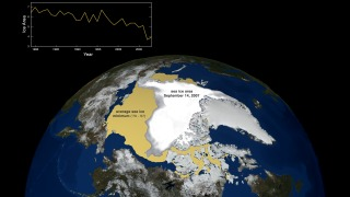 Link to Recent Story entitled: September 2007 Arctic Sea Ice vs 1979-2007 Average with Graph of 1979 to 2008 Ice Areas