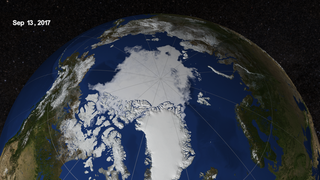 Link to Popular Story entitled: Arctic Sea Ice from March to September 2017