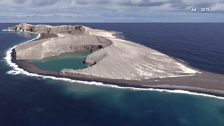 Link to Recent Story entitled: New island forms in Tonga