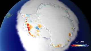Link to Recent Story entitled: 25 Years of Antarctic Land Ice Elevation Change Anomalies (West Coast Fly Over)