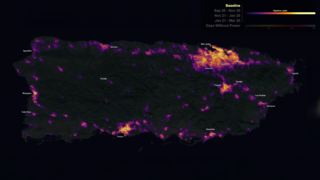 Link to Related Story entitled: NASA's Black Marble night lights used to examine disaster recovery in Puerto Rico