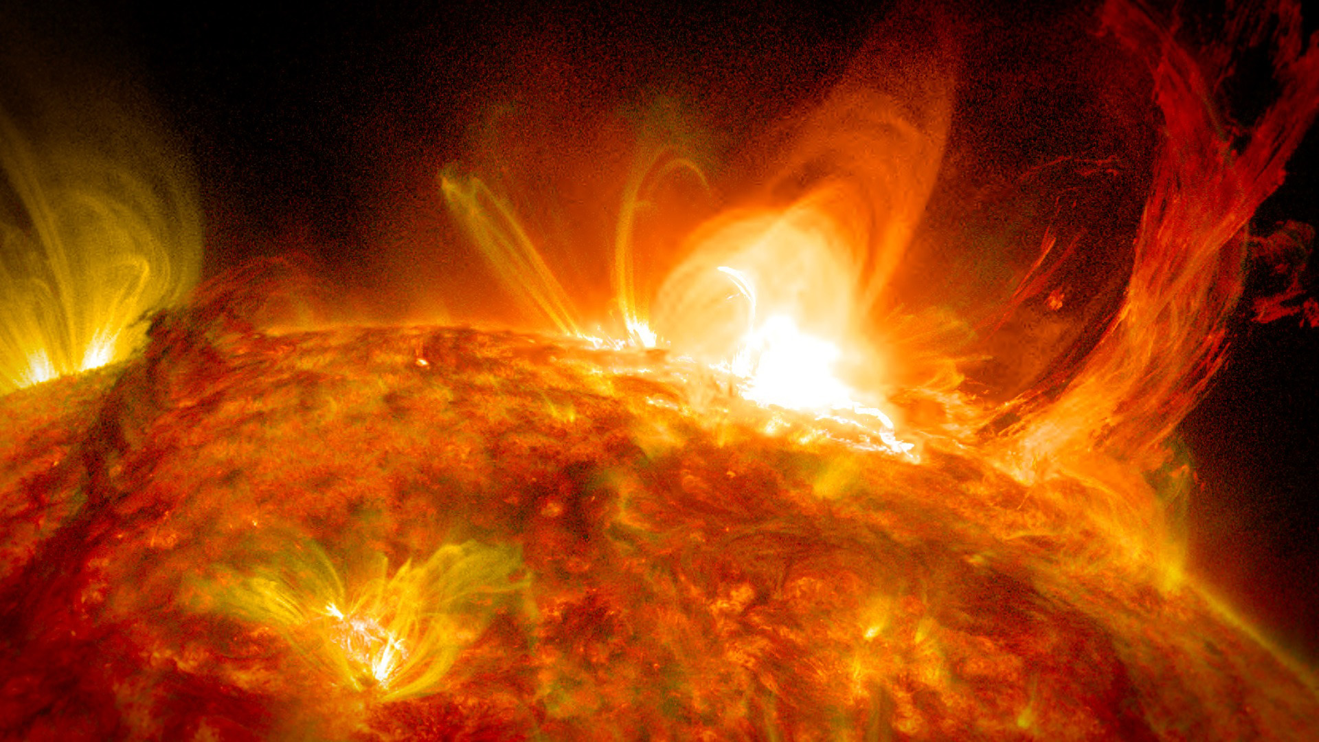an introduction to solar flares violent eruptions above the sun surface Several groups of solar scientists are working on these problems, trying to plug in real data from sun-observing satellites to improve their models the ultimate goal is to predict solar flares and eruptions so we and our satellites aren't caught off guard the next time the sun hurls radiation our way.