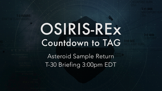 Link to Recent Story entitled: OSIRIS-REx: Countdown to TAG