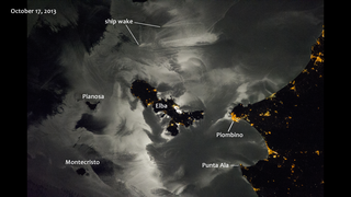 Link to Recent Story entitled: Moonglint Near Elba and the Mediterranean